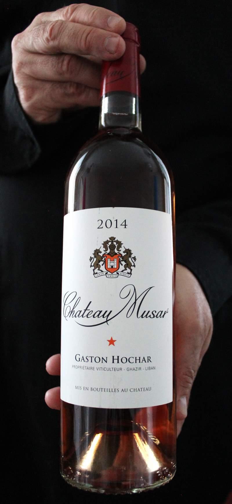 Rosée-viini Chateau Musar Rose 2014 äitienpäivänä. Viinihetki.