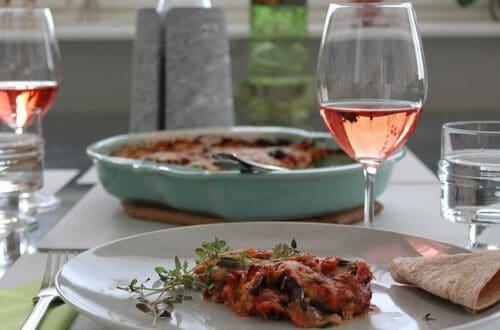Orgaaninen, vegaaninen rosé El Picoteo ja oliivi- melanzane, Viinihetki