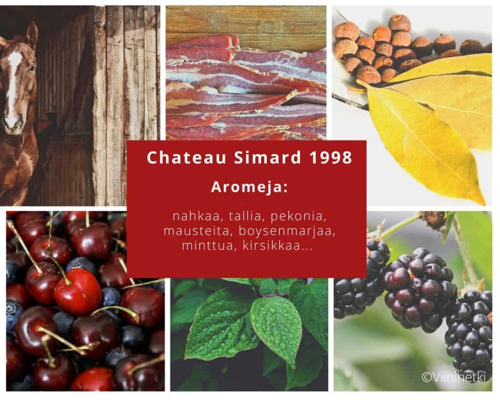 Viinihetken aromikortti: Chateau Simard 1998