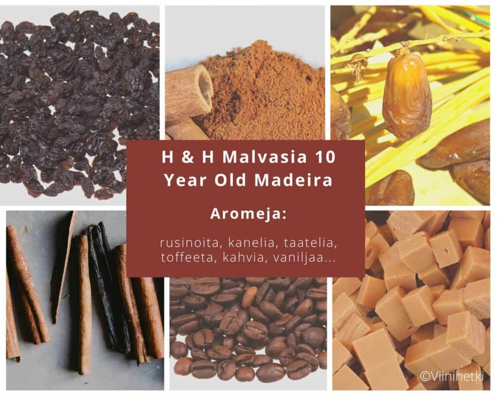 Aromikortti. Madeira H & H Malvasia 10 Year Old ja portugalilainen vaniljaleivos, Pasteis de Nata, Viinihetki