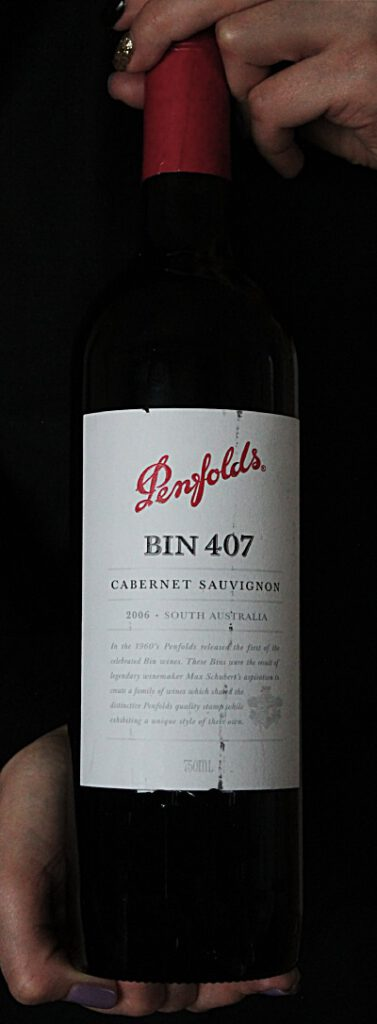 Punaviini Penfolds Bin 407 Cabernet Sauvignon 2006. Viinihetki