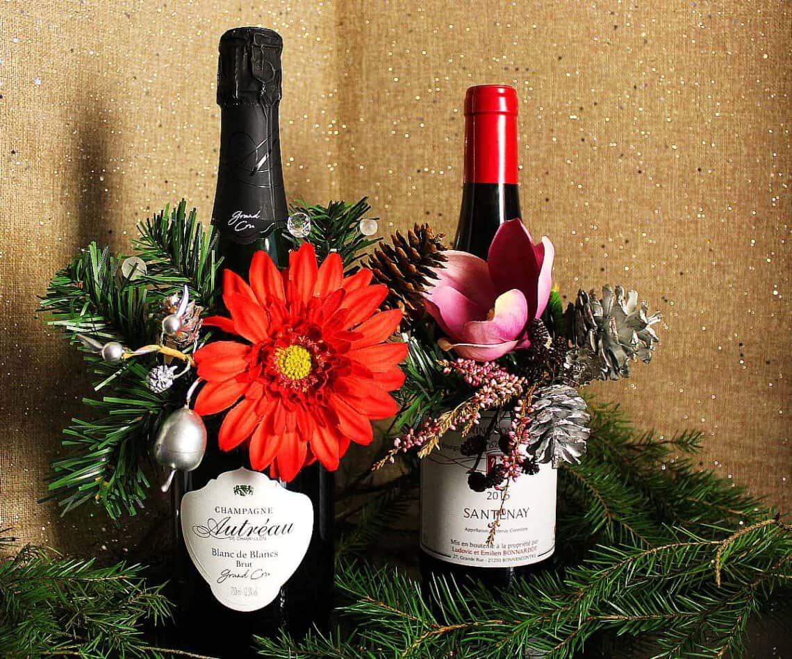 Viinipullon koristeet, pullokukat, Viinihetki