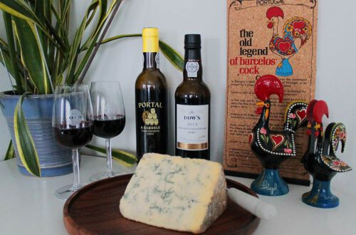 portviini ja stilton -juusto