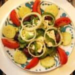 Kreikkalainen Horiatiki-salaatti, Viinihetki