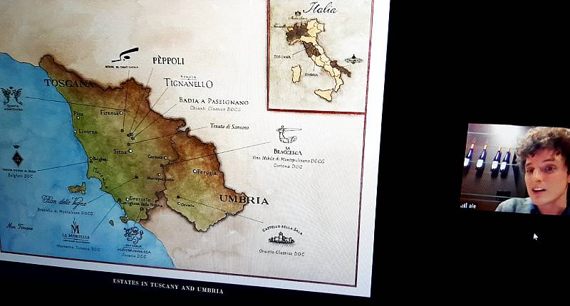 Antinorin viinitila sijaitsee Toscanassa (kartta). Vinihetki