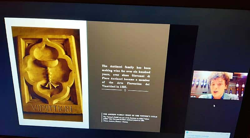 """Viinitalo Antinori, Giovanni di Piero Antinori liittyi firenzeläiseen viinintekijöiden kiltaan, """"Arte Fiorentinaan, Viinihetki"""