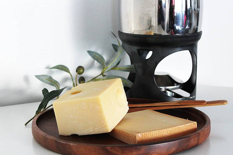 fonduejuustot: emmental ja gruyere, Viinihetki